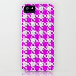 Magenta or Fuchsia Buffalo Plaid iPhone Case