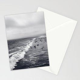 Black and White Santa Monica Beach Stationery Cards