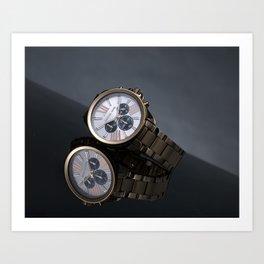 Watch Reflection Art Print