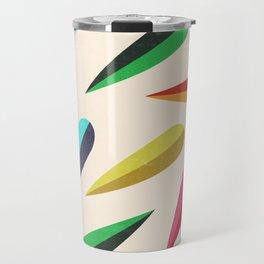 Feathers II Cascading Colors Travel Mug