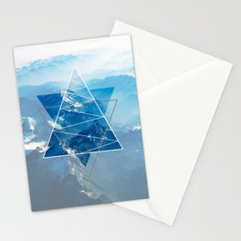 Mountain Vibes Geometry Stationery Cards
