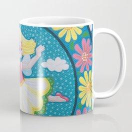 Daisy Flower Fairy Mandala Coffee Mug