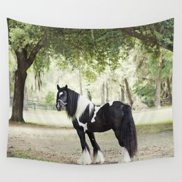 Majestic Horse in Color Wall Tapestry