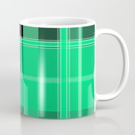 Shades of Green and Black Plaid Coffee Mug