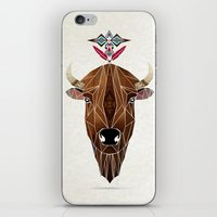 bison iPhone & iPod Skins featuring bison by Manoou