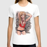 chicago bulls T-shirts featuring Chicago Bulls pin up girl by carlations: Carla Wyzgala illustrations