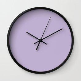 Pastel Lilac Wall Clock