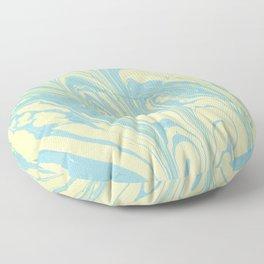 Marble of Yellow & Green Floor Pillow