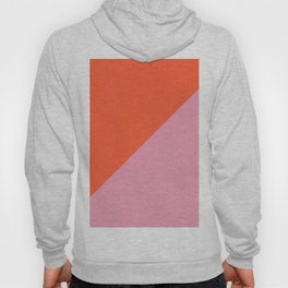 Bright Orange & Pink - oblique Hoody