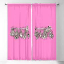 Possum Family - Pink Blackout Curtain