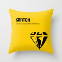 snatch Throw Pillows featuring Snatch by Arian Noveir