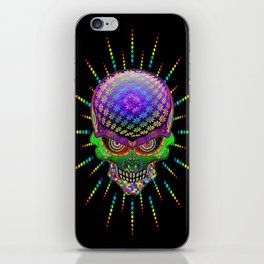 Crazy Skull Psychedelic Explosion iPhone Skin