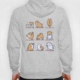 Pomeranian yoga Hoody