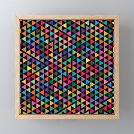 Triangles Mosaic Pattern Framed Mini Art Print