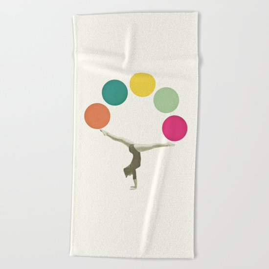 Gymnastics II Beach Towel