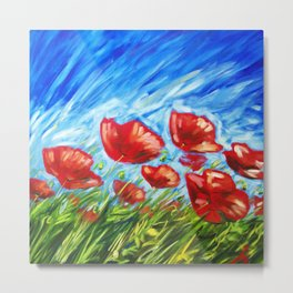 Wild Poppies by Ira Mitchell-Kirk Metal Print