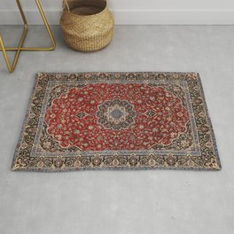 N63 - Red Heritage Oriental Traditional Moroccan Style Artwork Rug