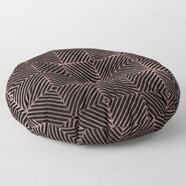 Abstract black rose pink geometrical diamond pattern Floor Pillow