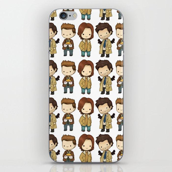Chibi Dean Sam Castiel Supernatural Iphone Skin By Kamfox Society6