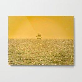 Sail on the horizon Metal Print