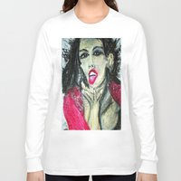 mia wallace Long Sleeve T-shirts featuring MIA  by JANUARY FROST