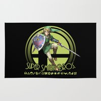 super smash bros Area & Throw Rugs featuring Link - Super Smash Bros. by Donkey Inferno