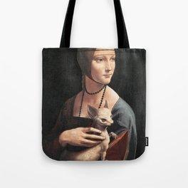 dama col chihuahua Tote Bag
