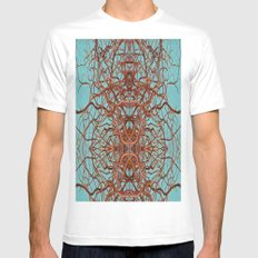 Abstract art 7 MEDIUM Mens Fitted Tee White