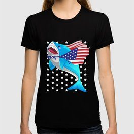 america shark 4th of july T-shirt