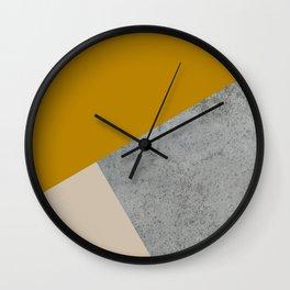 MUSTARD NUDE GRAY GEOMETRIC COLOR BLOCK Wall Clock