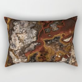 Twisted patterns of brown, red and beige stone Rectangular Pillow