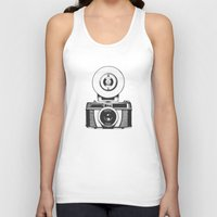 camera Tank Tops featuring Camera by danielrafalski