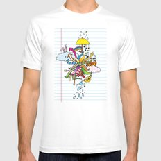 Notebook World Mens Fitted Tee MEDIUM White