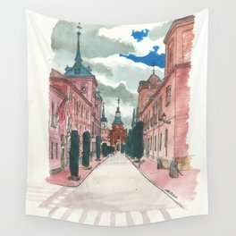Cloudy street Wall Tapestry