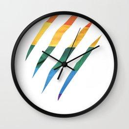 Fam Scratch (LGBT) Wall Clock