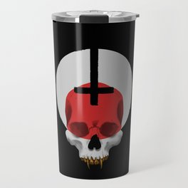 Gold Grilled Skull Travel Mug