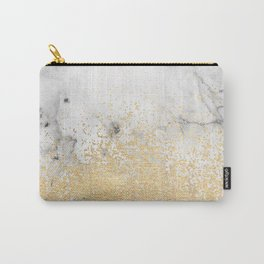 Gold Dust on Marble Carry-All Pouch