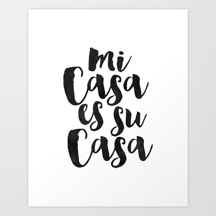 picture regarding Home Sweet Home Printable known as Printable Quotation,Mi Casa Es Su Casa, Spanish Quotation,Property Adorable Household, House Signal,Quotation Prints Artwork Print as a result of alextypography