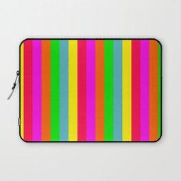Neon Hawaiian Rainbow Cabana Stripes Laptop Sleeve