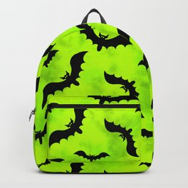 Bats and Green Toxic Waste Vapors Backpack