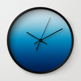 Sky and Ocean Blue Ombre Wall Clock