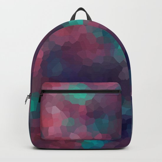 Abstract pattern blue raspberry and turquoise crystals . Backpack