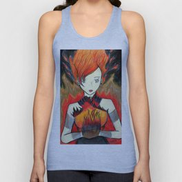 Girl on Fire Unisex Tank Top