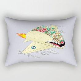 Taco Fighter Jet Rectangular Pillow