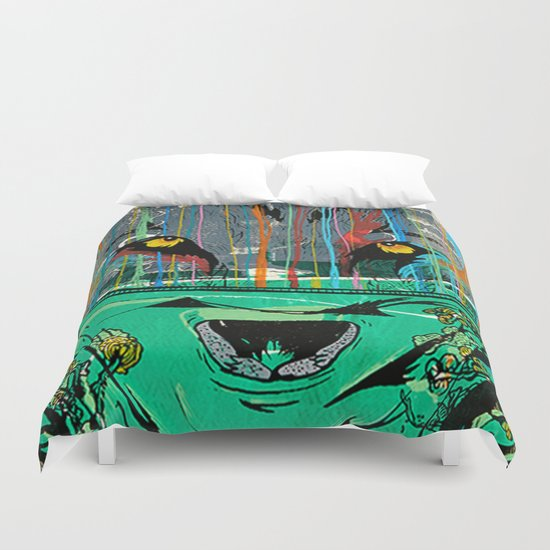 Wolf Mother - Screen Print Edition  Duvet Cover