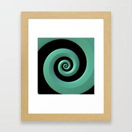 Mint/Black Spiral Framed Art Print