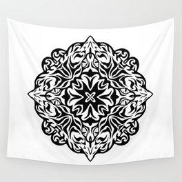 Polynesian style tattoo mandala Wall Tapestry