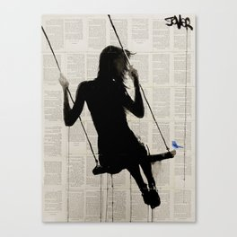 the freedom of sometimes Canvas Print
