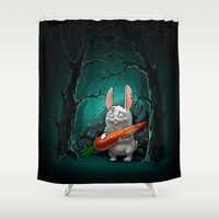 rabbit Shower Curtains featuring rabbit by Antracit