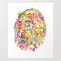 lsd Art Prints featuring LSD by Lorenza D. Walker